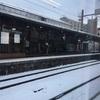 出国の日、雪景色に!