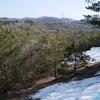 岩屋堂公園から元岩巣山と岩巣山へ≪#4≫  ― 雪景色の元岩巣山 ー