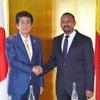 アフリカ開発会議。アフリカ首脳とマラソン会談 首相、中国を意識