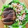 特大椎茸ステーキのサラダ