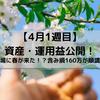 4月1週目 資産・運用益公開~資産1000万円の道~