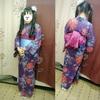 お母様の浴衣を娘さんが着て足立区花火大会へ(^ν^)