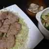 豚ヒレステーキ、白菜漬け、味噌汁