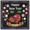新年のご挨拶&チョークアートは赤べこ