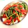 空芯菜とヨサコイハニーのにんにく醤油炒め&モロヘイヤと空芯菜の茎の肉団子スープ