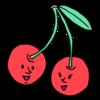 かわいいさくらんぼ のイラスト