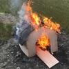 犬小屋を作って燃やしました!