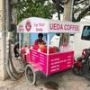 ウエダコーヒーさんの移動販売車(CJCCの近く)。