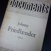 documents  Johnny Friedlaender 1912 pierre cailler