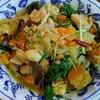 鶏胸肉と厚揚げと野菜の炒め煮 黒酢醤油味
