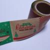 ダイソーのクリスマスロールシールとミラー付きプチケース。