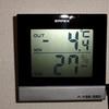 最低気温更新