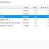 Chromeの拡張とメモリ使用量