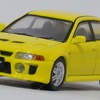 【モデルインプレッション】TARMAC64 Mistubishi Lancer Evolution V GSR(Yellow)