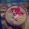 【ゼロハリblog復帰!】刺繍一周年目なので、梨子ちゃんの刺繍!【#アニメキャラ刺繍 #途中経過】