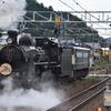 汽車が走る! 彦根~能登川 (『SL北びわこ』機関車回送:力行サービス)