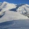新雪の鳥海山にて