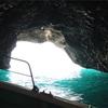 幻想的なエメラルドグリーンに包まれる「道南の秘境 青の洞窟」♪ 854(矢越)クルーズ