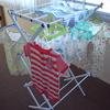 洗濯機の洗浄とベビー服の水通し。