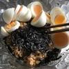あんま美味しそうに見えないけど…納豆・塩昆布・ゆで卵などなどパスタ