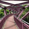 【加賀】山中温泉の名勝・鶴仙渓に架かるあやとり橋からこおろぎ橋を歩く