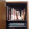 靴箱の一部を本棚として使う