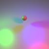 【GLSL】レイマーチングで複数の光源が作る影