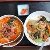 星月楼の四川坦々麺と中華飯