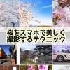 【コラム】スマホで手軽に。桜を美しく撮影する方法を教えちゃいます。インスタ映えする簡単撮影テクニック術