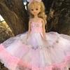 ピンクのふわふわドレス