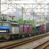 6月29日撮影 東海道線 平塚~大磯間 貨物列車⑤ EF200と金太郎(いつものやつ)