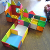 いつものブロック&ピタゴラス でゴッコ遊び