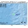 2016年09月18日 23時32分 鳥島近海でM3.9の地震