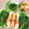 レタスたっぷり!鶏胸オイル煮とレタスの油揚げサンド