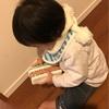 6歳男児マフラーを編む🧣4歳女児も挑戦中!