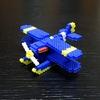 【アイロンビーズ3D】紅の豚より、カーチス R3C-0 非公然水上戦闘機