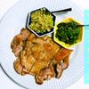 【呑んべいごはん。】パリパリ、ジューシーな鶏もも肉のグリル〜2種の薬味タレ〜