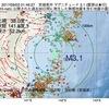 2017年09月03日 01時46分 宮城県沖でM3.1の地震