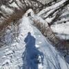 伯耆大山で雪山訓練 at 三鈷峰
