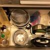 キッチンの整理整頓。ミニマリストの鍋の数。