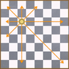 Pythonで数学パズル 8クイーン問題を解く forとcontinue