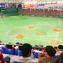 東京ドームで野球観戦♪ 楽天イーグルスが勝ちました☆ 右手にビール、左手にナゲット...お腹いっぱい。