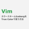 Vim 目にやさしいカラースキーム「Iceberg」をTrue Colorで使うための設定