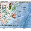 2017年09月09日 08時06分 千葉県東方沖でM3.0の地震