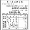 株式会社ちふれ化粧品 第2期決算公告