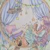 エポルの塗り絵「季節はめぐる」ホルベインのパステルカラー群で塗ってみた
