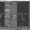 Blender標準テクニック[ローポリキャラクター制作で学ぶ3DCG]を試す その52(二つのウェイト値の設定)