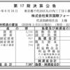 株式会社東京国際フォーラム 第17期決算公告