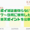 【ポイ活は裏切らない】3ヶ月で約2万ポイントゲット!7~9月に獲得した楽天ポイントを公開