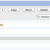 PyCharmのReplace(置換)のキーを変更